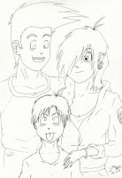 Tiana's family uncoloured by LaunaWolf