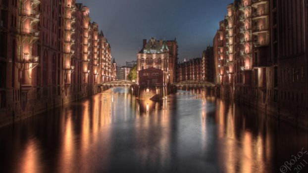 Light the night - HDR - Hamburg by Obolos-Designs