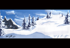 Snowy Mountains speed painting 1 by Bryan-Lobdell
