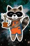 I am CUTE - with Rocket and Groot by brodiehbrockie