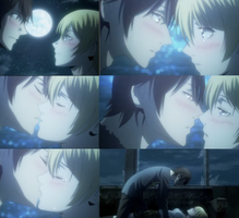 BTOOM episode 12 Ryouta and Himiko kiss scenes by hush-janiz15