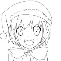 Aigis-Christmas-Lineart by Evee-Elric
