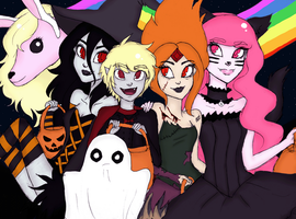 Adventure Time Halloween by Natsunohuyana