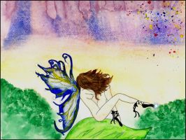 sad fairy painting 2 by SwtCreations