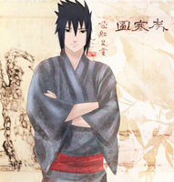 Sasuke: Traditional japanese style by Lesya7