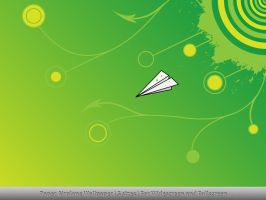 Paper Airplane Wallpaper by MDGraphs