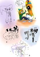 Some cute NiGHTS doodles :3 by Mari-Limmy