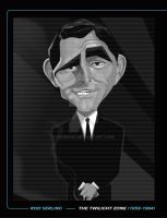 ROD SERLING TWILIGHT ZONE PRINT by kgreene