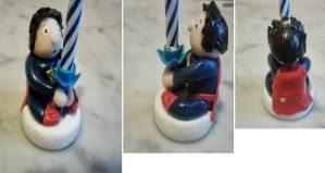 Birthday Candle Holder - Super Boy by tyney123