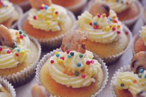 Cookie Dough Cupcakes I by Disneys-Buffy