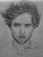 Robert Pattinson Drawing by EHilsdonPhotography