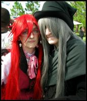 Grell and Under Taker by Cosplayer-Inochi