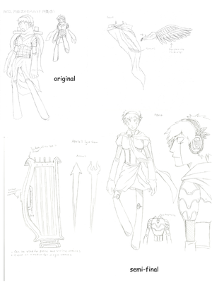 Persona 3 Awakening- Apollo sketches
