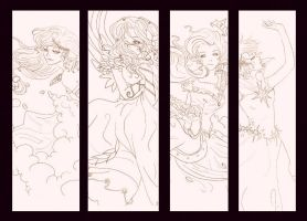 WIP of MLP fanart by Grace-Allergies