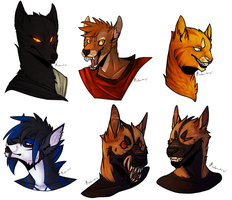 Headshot Commission Batch by buttfreckles