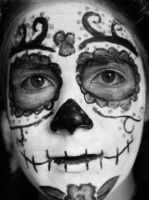 B+W Day of The Dead by Tigzzz