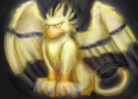 Gold Gryphon by magewish4