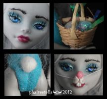 MH repaint 10  GHOULIA bunny BUNI details by phairee004