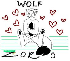 Zoro As A Wolf by XxSutaxX