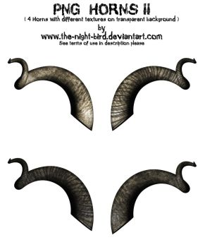 PNG HORNS II by the-night-bird