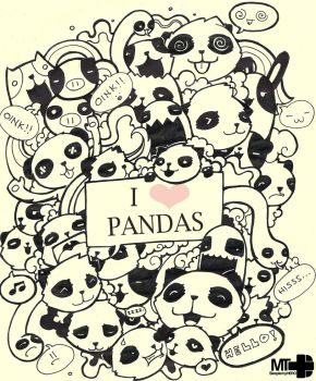 pandas by sleepismyheroII