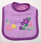 Reversible Violet bib by AngiKate