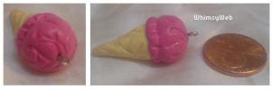 Pink Ice Cream Cone Charm by WhimsyWeb
