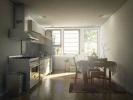 Kitchen Render Cinema 4D Vray Interior by externible