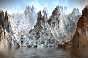 Mandelbulb Mountains by HalTenny
