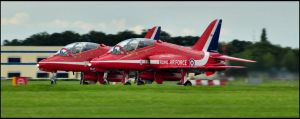 Red Arrows Take off 3 / FAS 2012 by Somebody-Somewhere