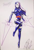 C2E2Sketch - Psylocke by Robaato