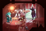 Gathering around the table by Yoruko
