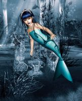 The Littlest Mermaid by LunarBerry