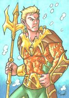 Aquaman Sketch Card by ibroussardart