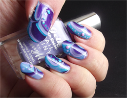 Blurple Candy Water Marble by Ithfifi