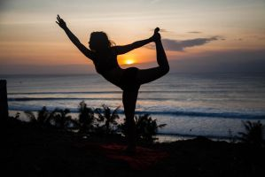 Sunset Yoga in Bali by CBerms