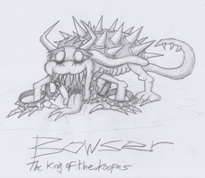 Mario Creepy Enemies #13: Bowser by nick3529