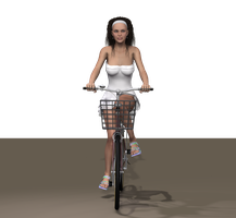 Attractive girl on bike Chica 5 by LadiaHidoi