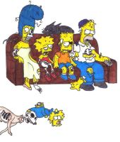 Zombie Simpsons by smelly-fairy