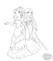 To the Ball -Lineart- by GamingGirl73