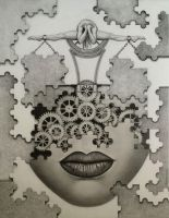 The Puzzle by Greyfell-Fine-Art