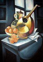 Still life 2 oil paint by Boias