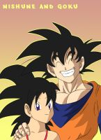 Nishune and Goku by DragonballAF