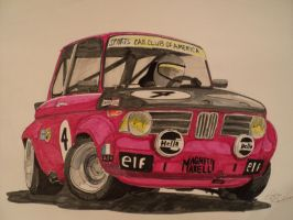 BMW 2002 marker drawing by prestonthecarartist