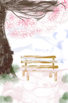 Winter Bench by cloudstrife1247