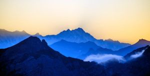 Different shades of blue on the receding mountains by MrSebuhi