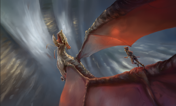 Illustration 02 - Dragon by Kettenotter