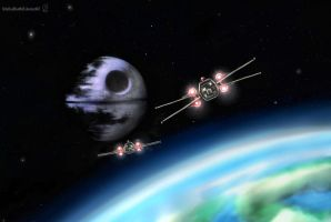 Death Star upon endor by RTOneBlueWolf