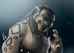 Collab Tai Lung speed paint by yuramec