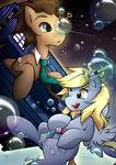 Derpy and the doctor by secret-pony